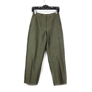 Ann Taylor Green Cotton Dress Pants / Slacks Sz 4